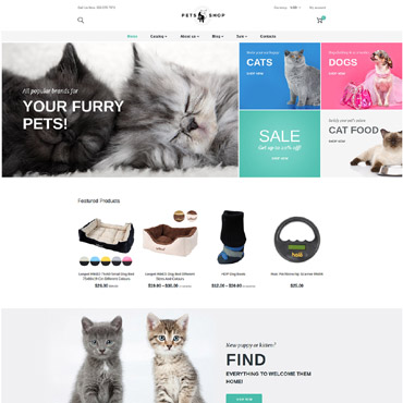 Template Animale de companie Shopify #63802