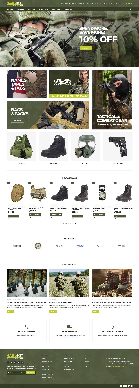 HardKit - US Army Military Shop Magento Theme