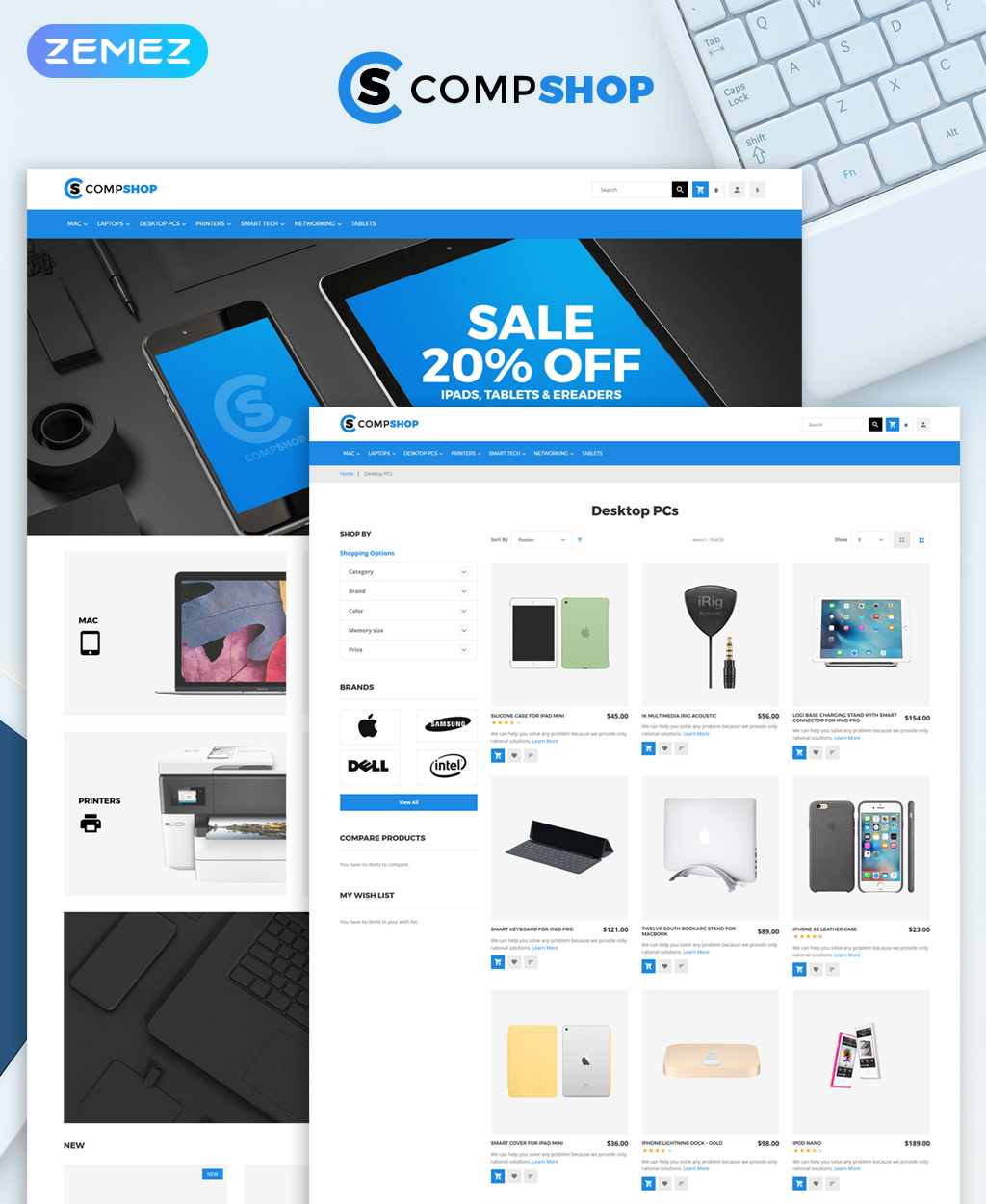 CompShop - Computer Store Magento Theme