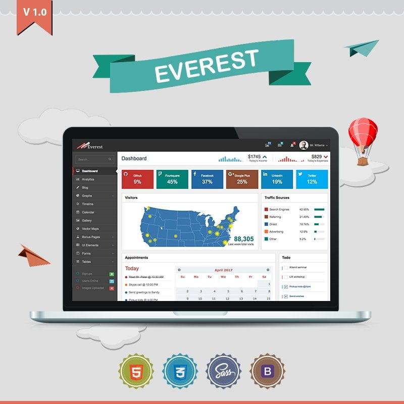 Everest Dashboard Admin Template