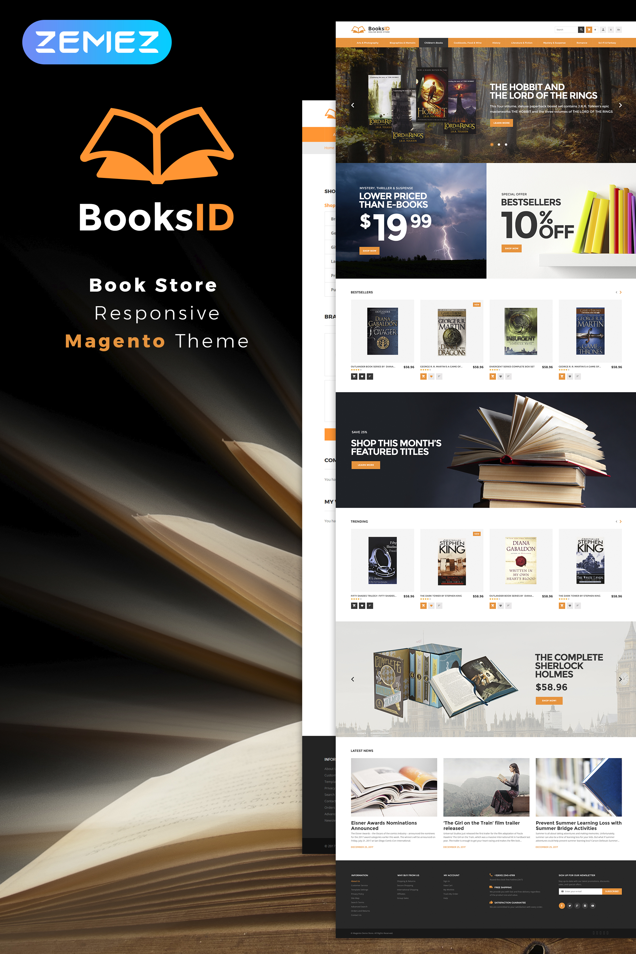 BooksID - Book Store Magento Theme