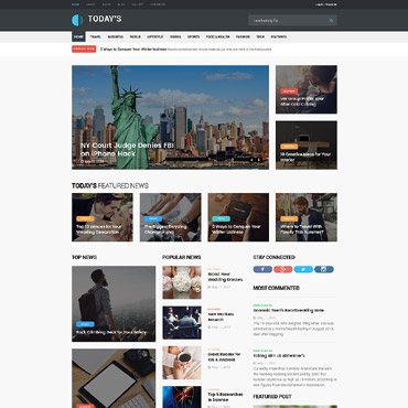 Template Mass-Media Joomla #64017