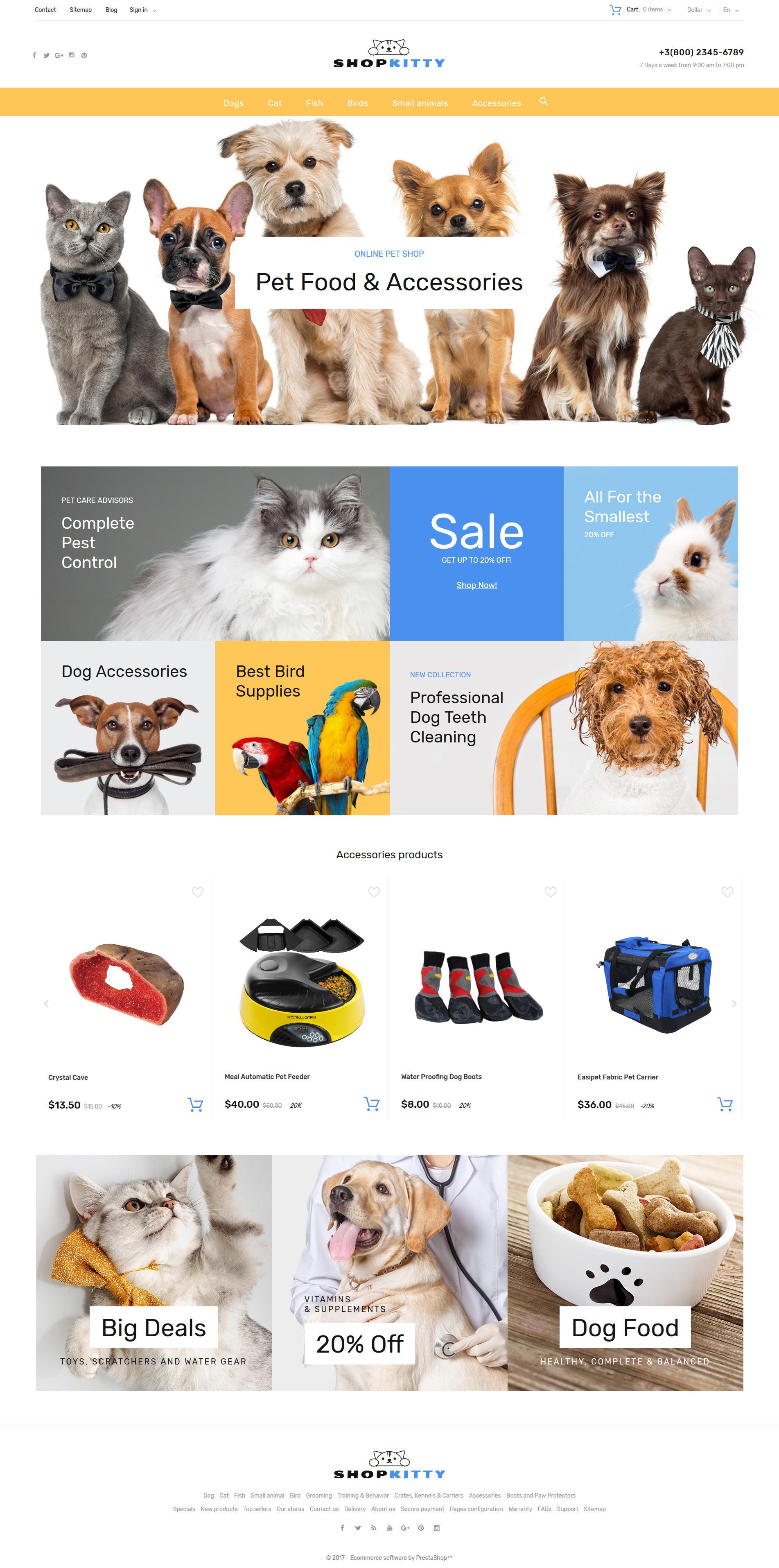 ShopKitty PrestaShop Theme