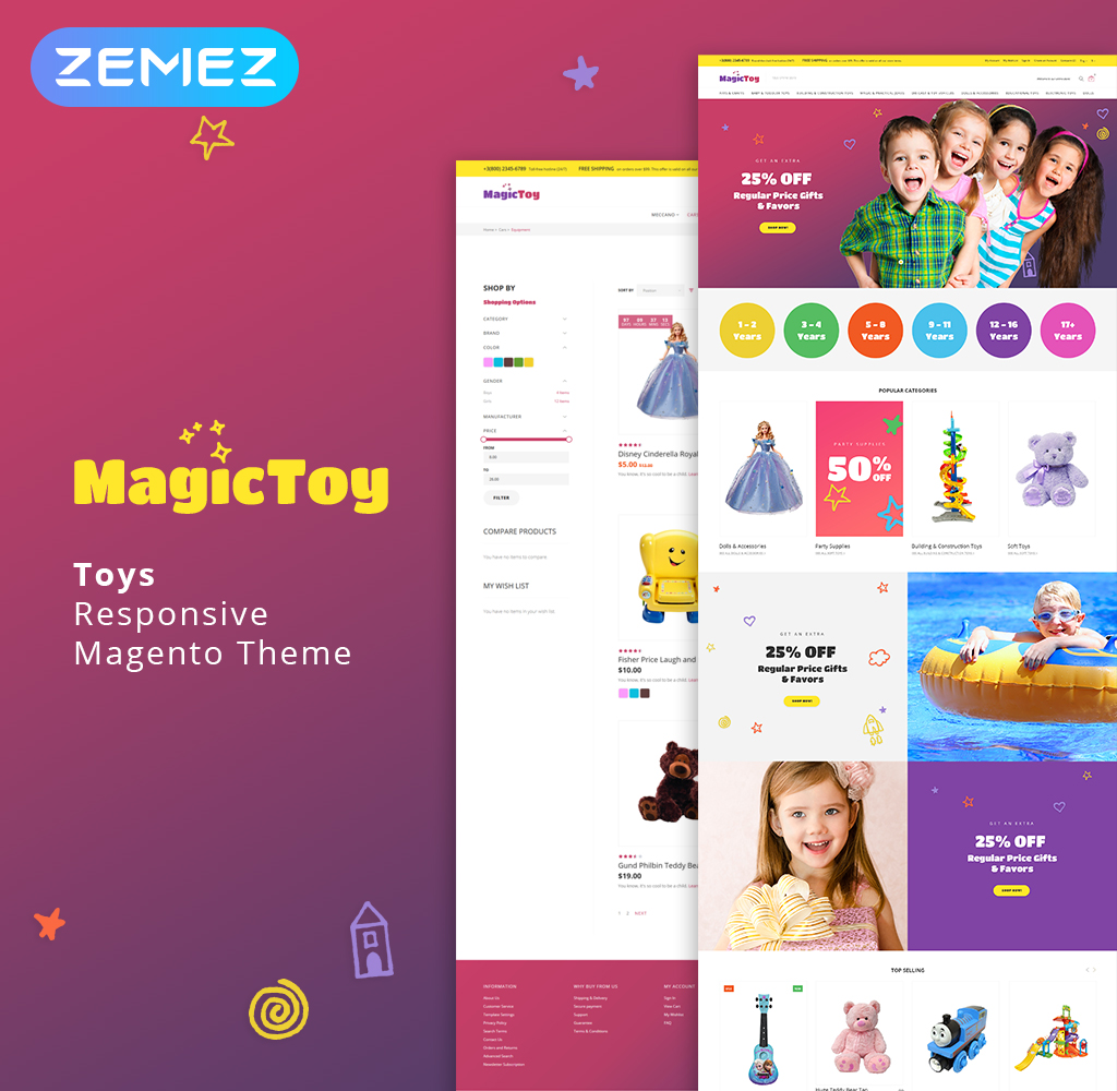 MagicToy - Baby Toys Magento Theme