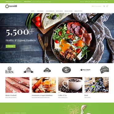 Template Mâncare și băutură Magento #64136