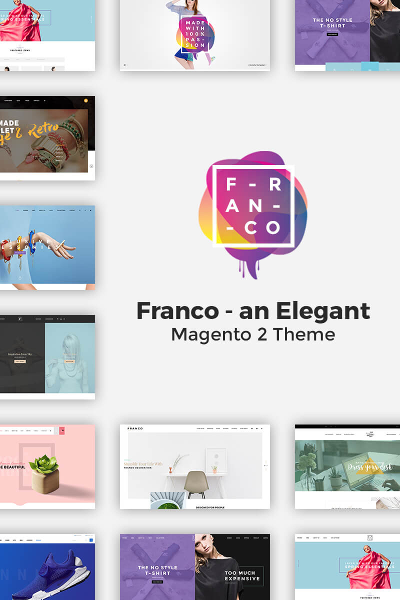 Franco - Elegant Magento 2 and 1 Theme Magento Theme