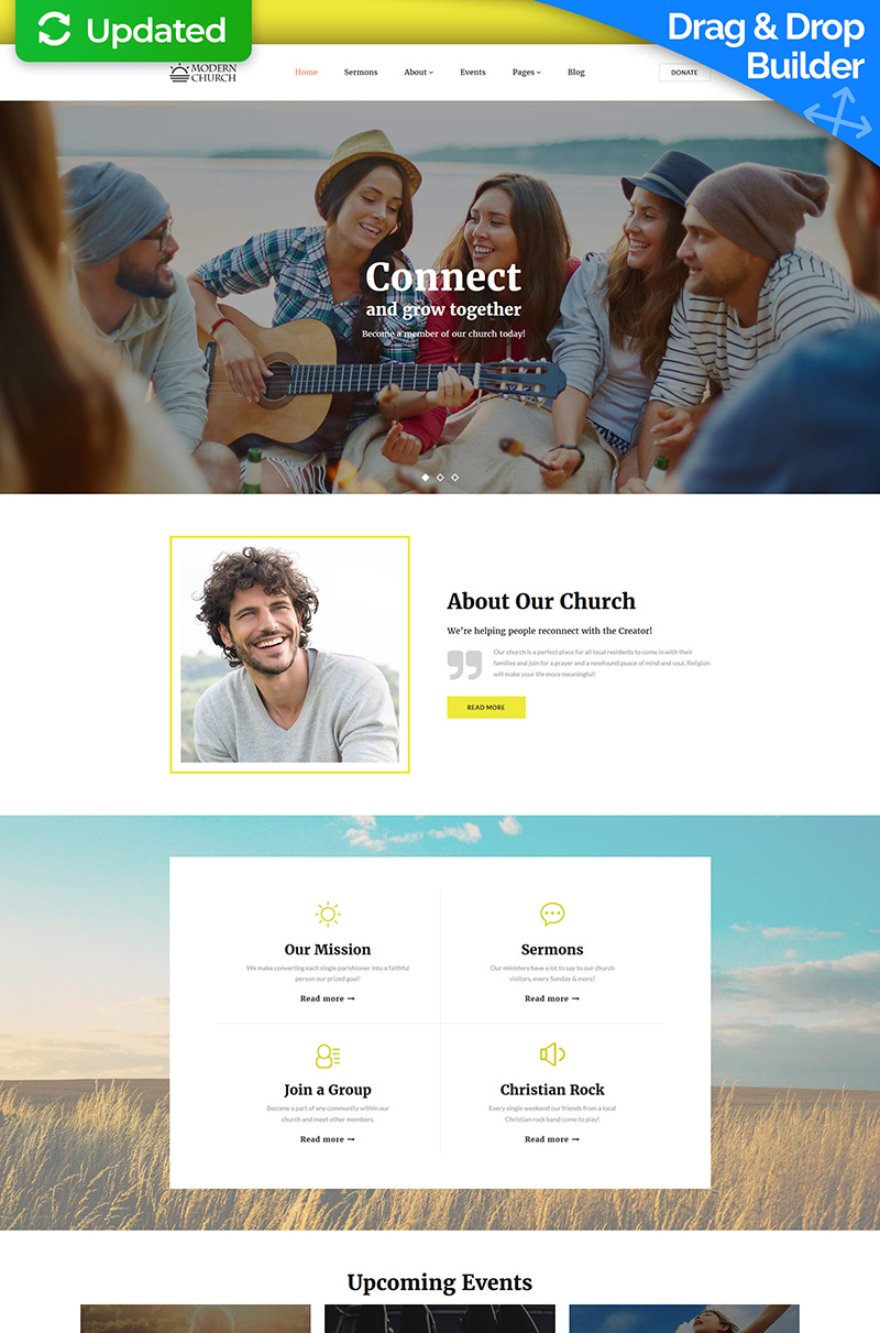 Modern Church - Religious Moto CMS 3 Template