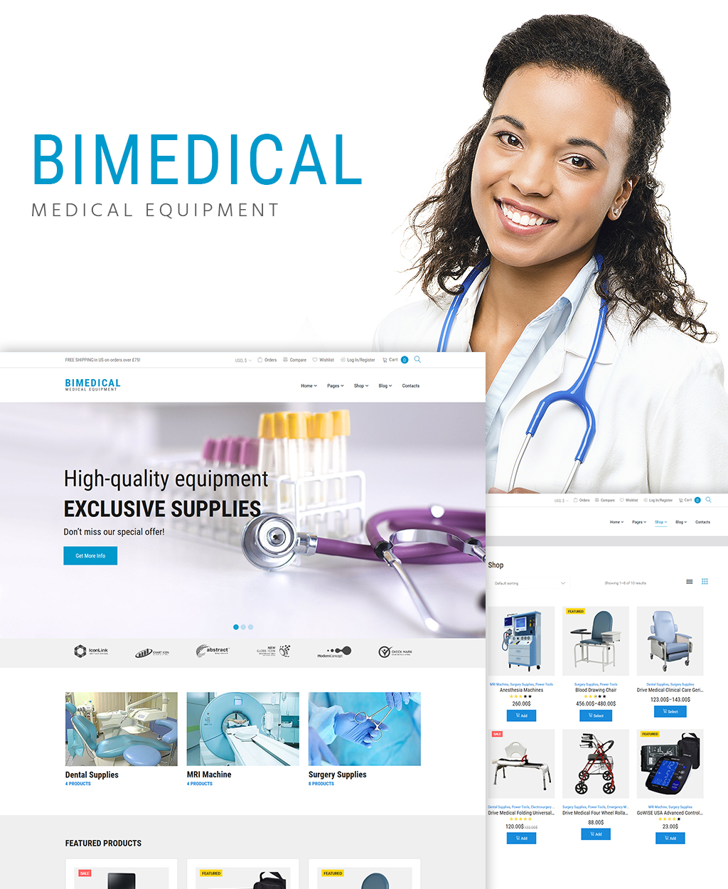 Bimedical- Medical Equipment Responsive WooCommerce Theme