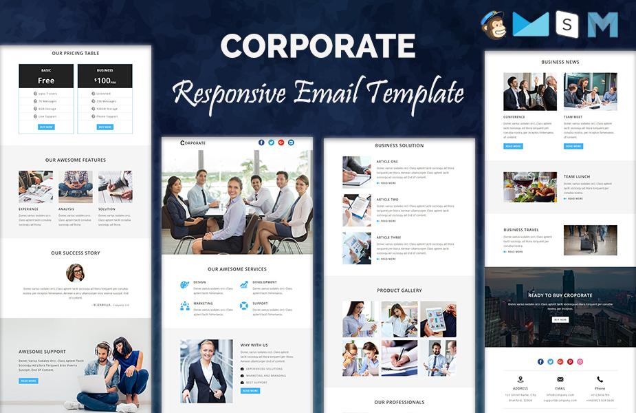 CORPORATE - Responsive Newsletter Template Newsletter Template