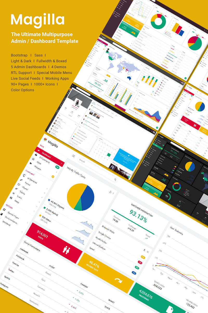 Magilla - The Ultimate MultipurposeDashboard / Admin Template