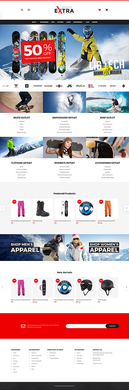 Template 64496 for Opencart template editor