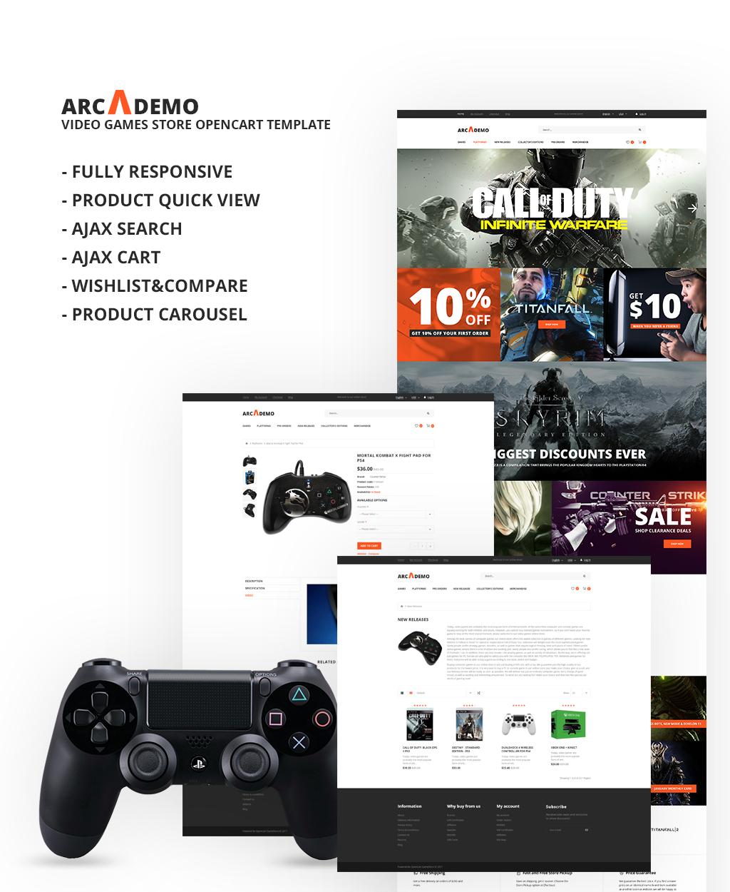 Game Portal Responsive OpenCart Template