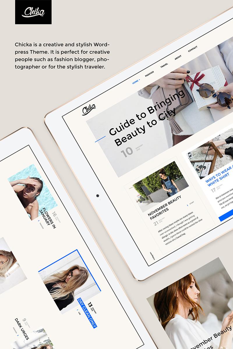 Chika - Creative WordPress Blog Theme WordPress Theme