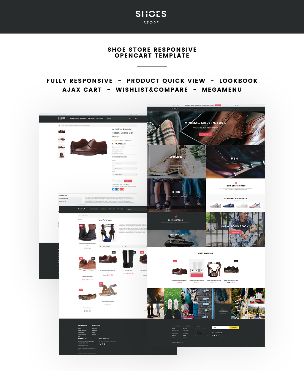 Shoe Store Responsive OpenCart Template