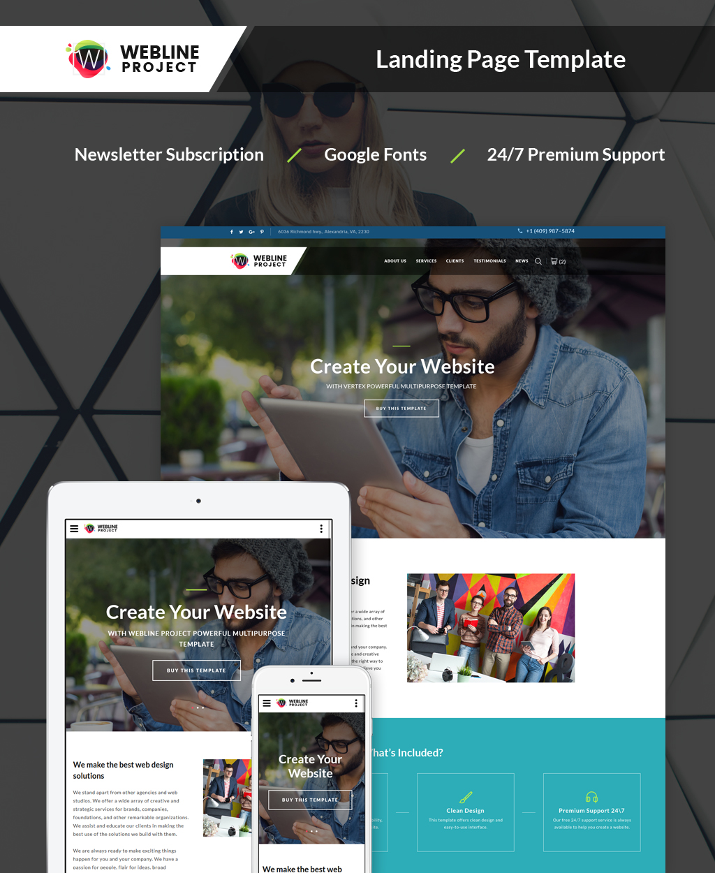 Webline Project - Corporate Landing Page Template