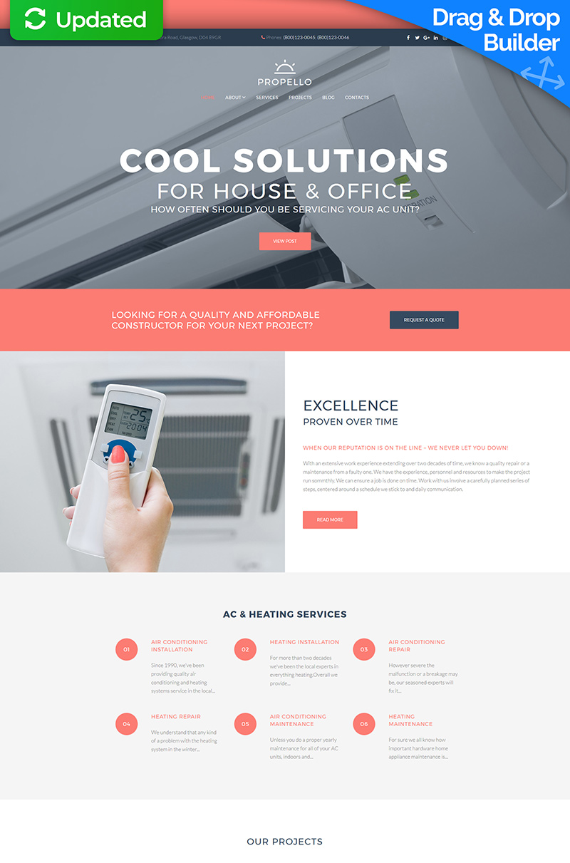 Air Conditioning Responsive Moto CMS 3 Template