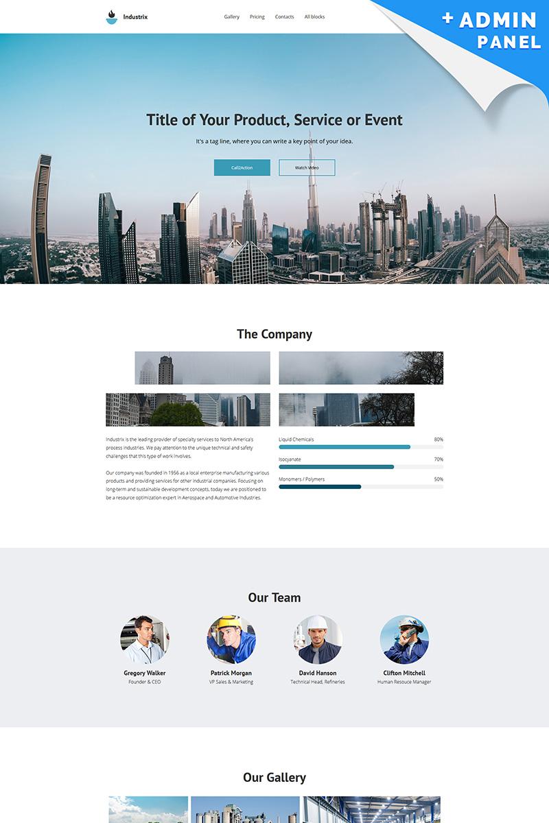 Industrix - MotoCMS 3 Landing Page Template