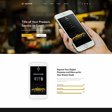 Template Software Landing Page #65029