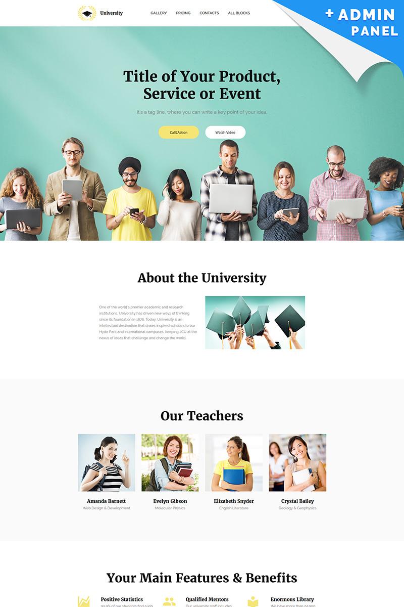 University MotoCMS 3 Landing Page Template
