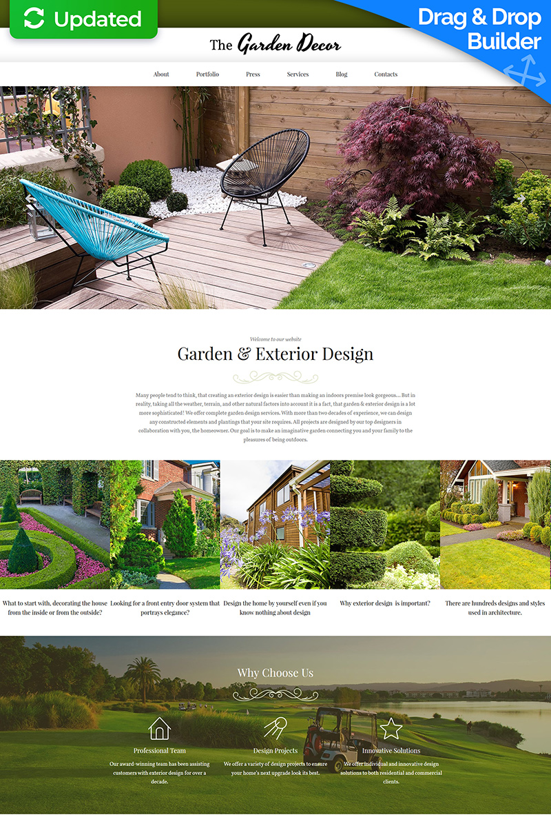 Garden Design Moto CMS 3 Template