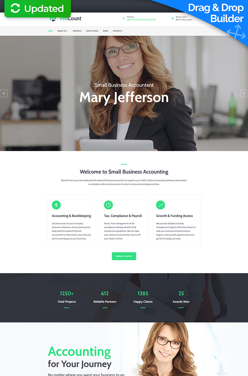 Small Business Website Moto CMS 3 Template