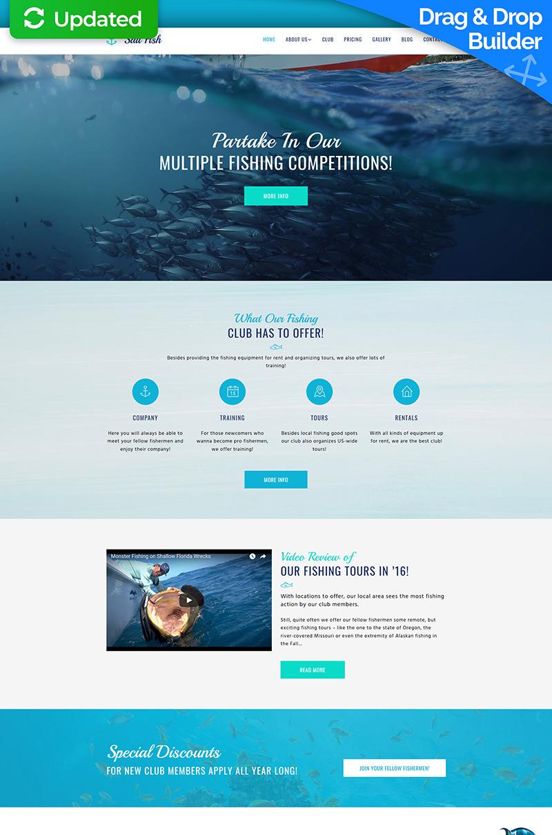 Sail Fish - Fishing Moto CMS 3 Template