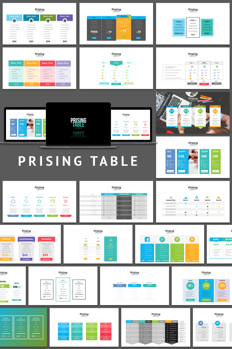 Pricing Table Presentation PowerPoint Template