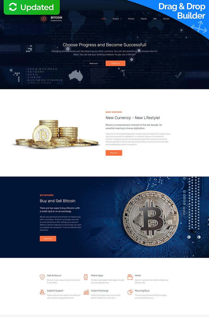 Bitcoin Company Premium Moto CMS 3 Template