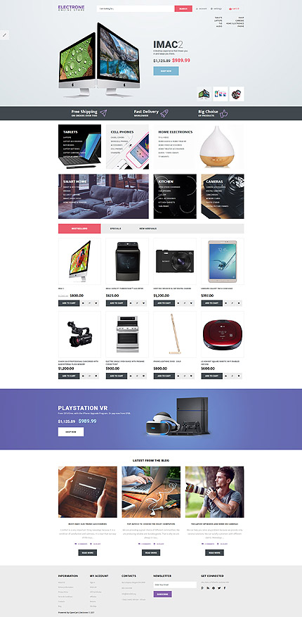 Template 65462 for Opencart template editor