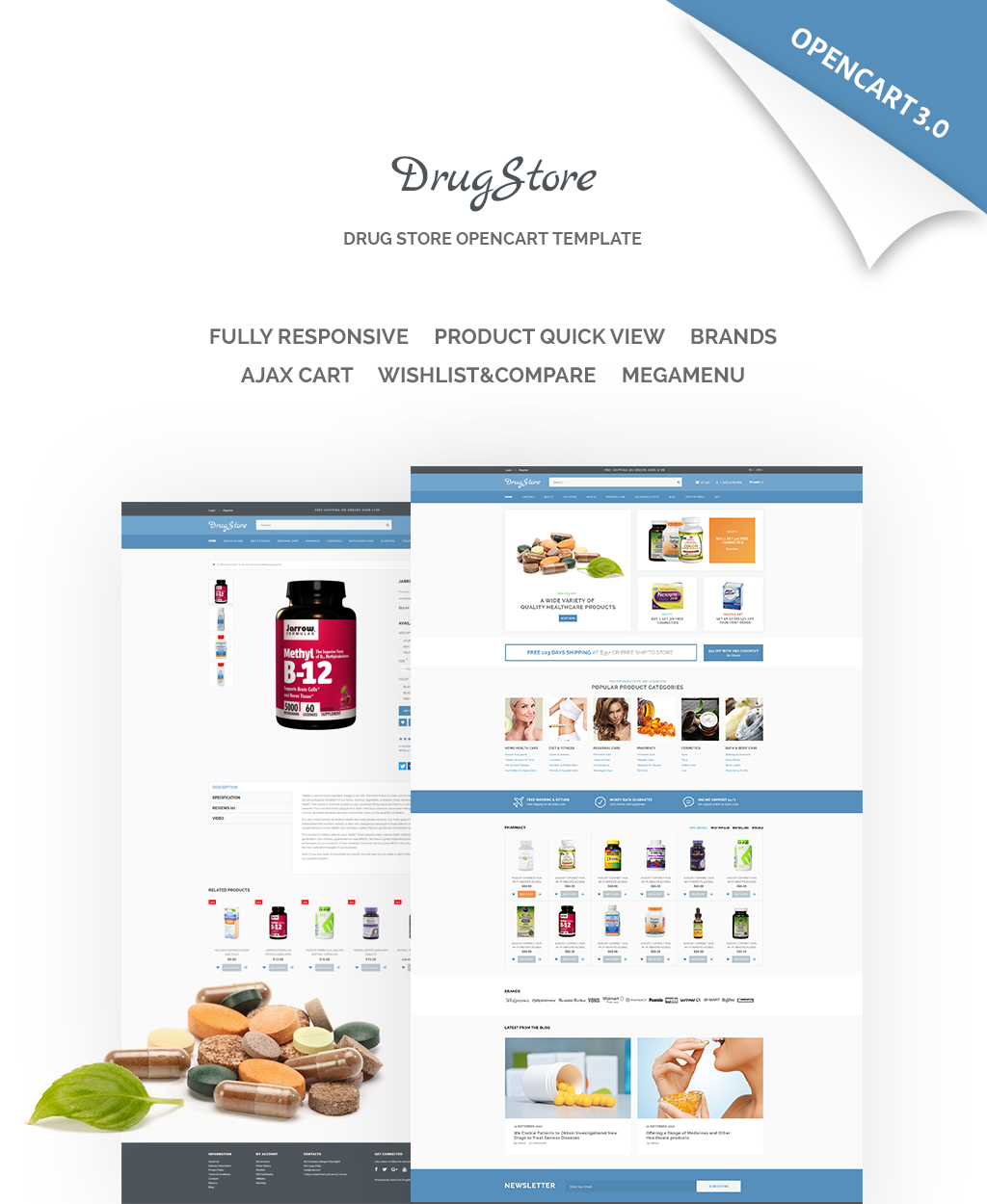 DrugStore Responsive Website Template OpenCart Template