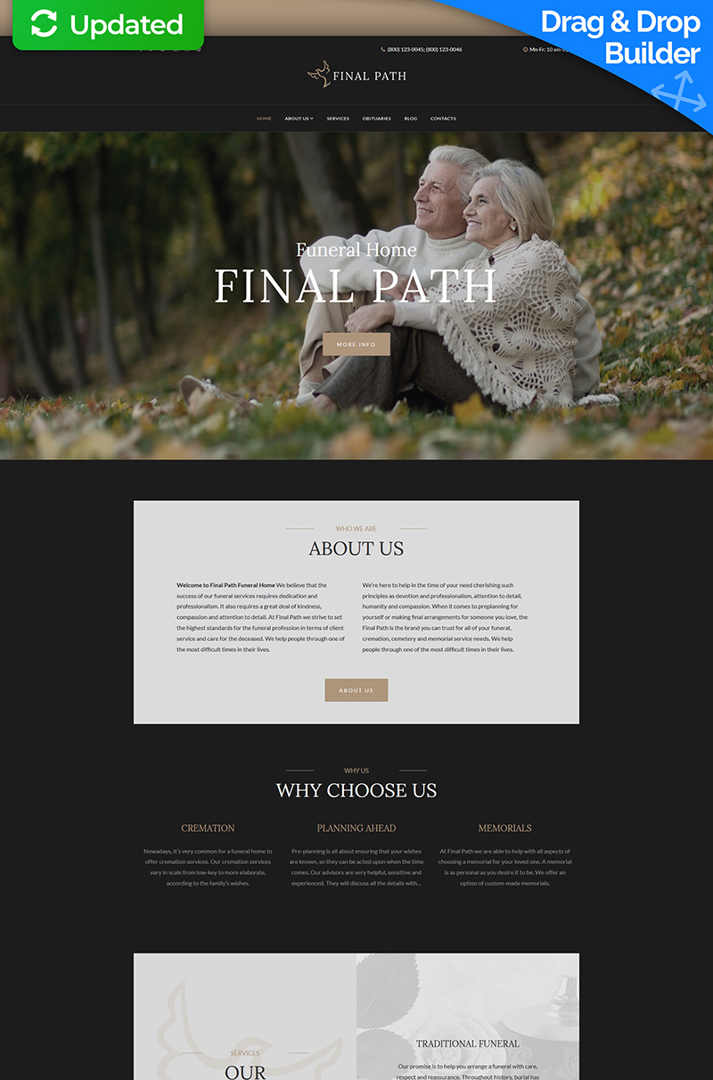 Final Path - Funeral Home Moto CMS 3 Template