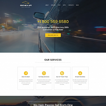 Template Transport Moto CMS 3 #65563