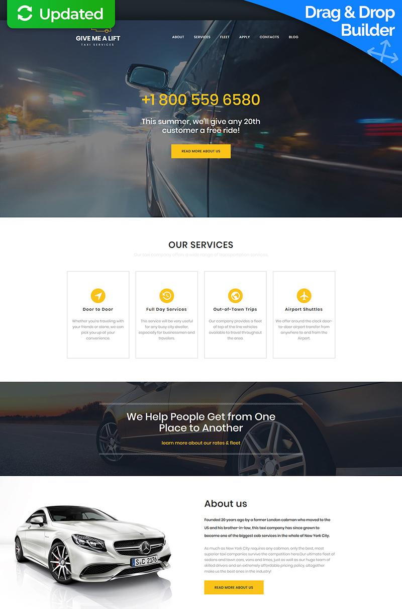 Taxi Responsive Moto CMS 3 Template