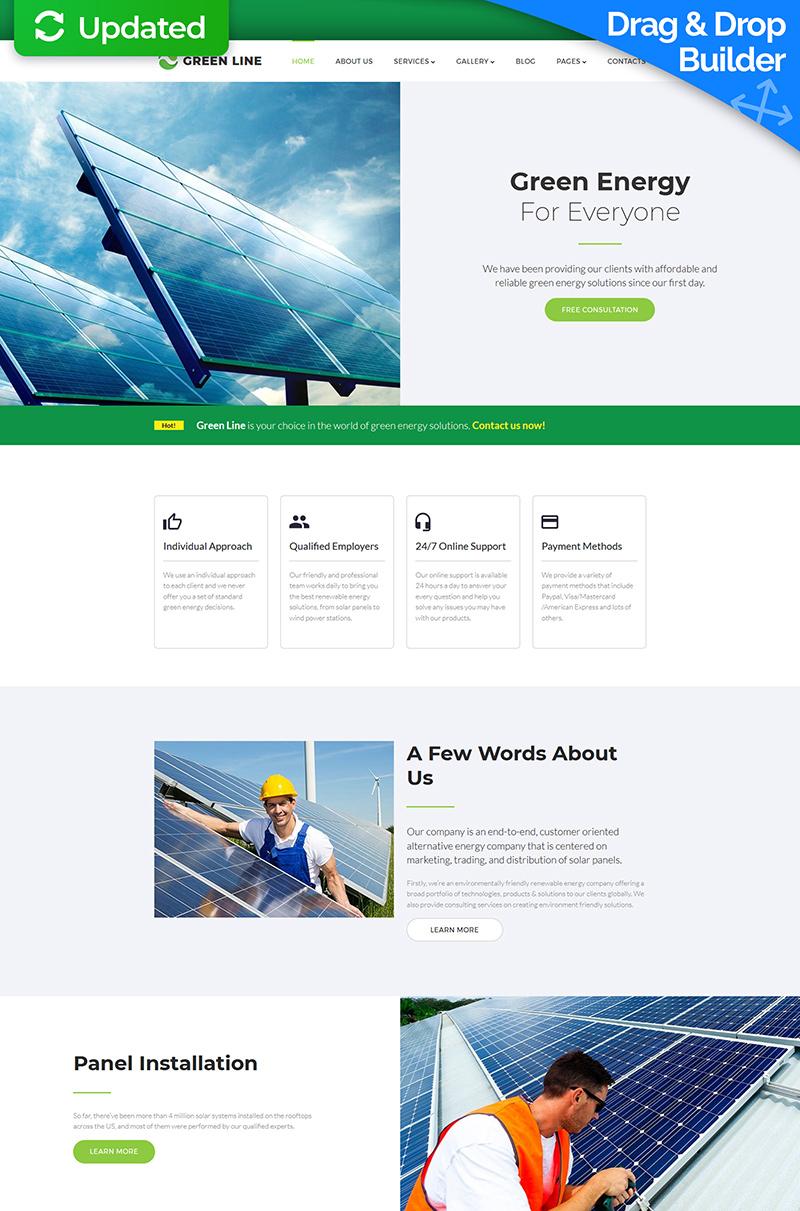 Green Line - Solar Energy Company Moto CMS 3 Template