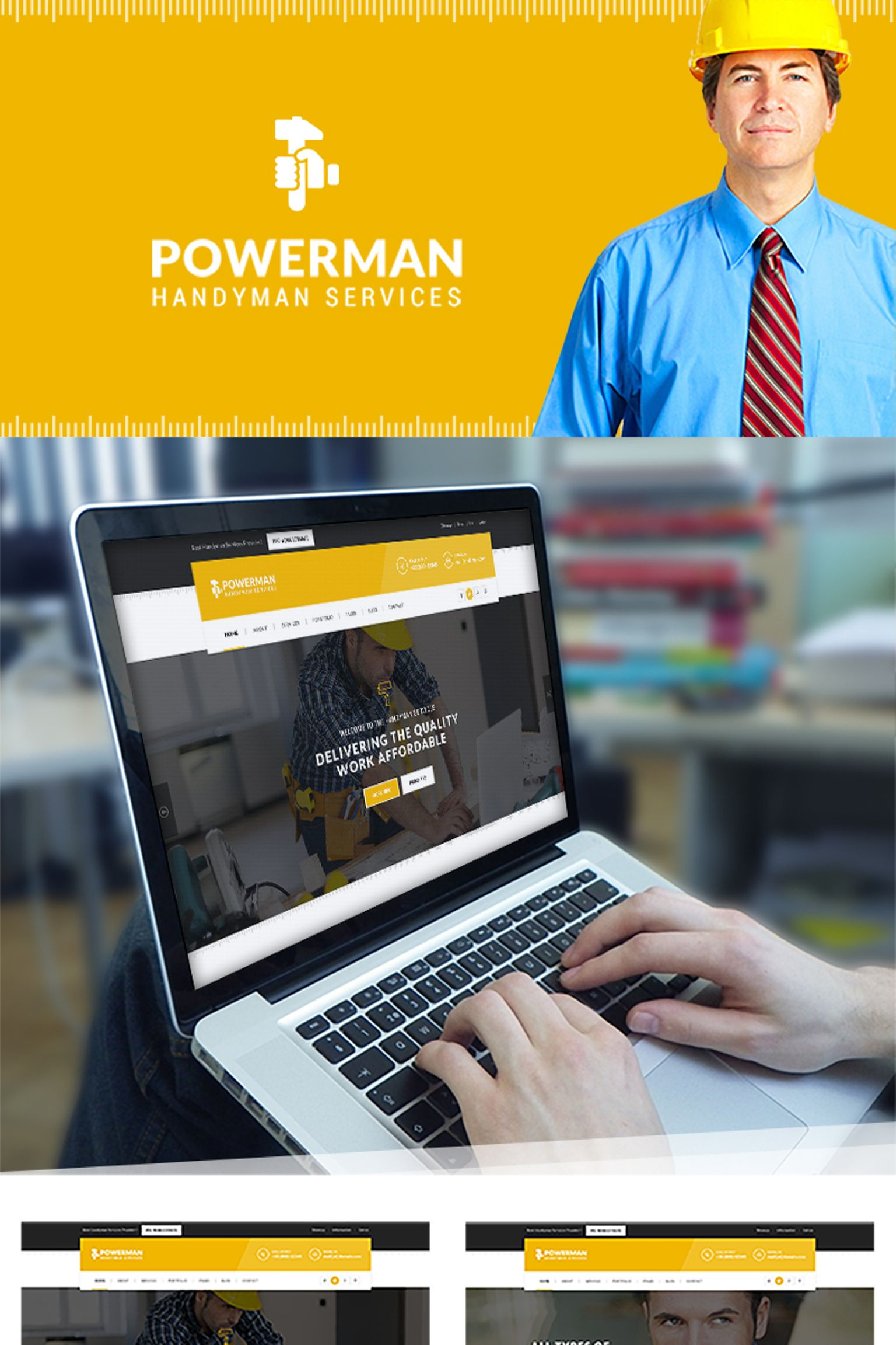 Powerman - Handyman Services WordPress Theme