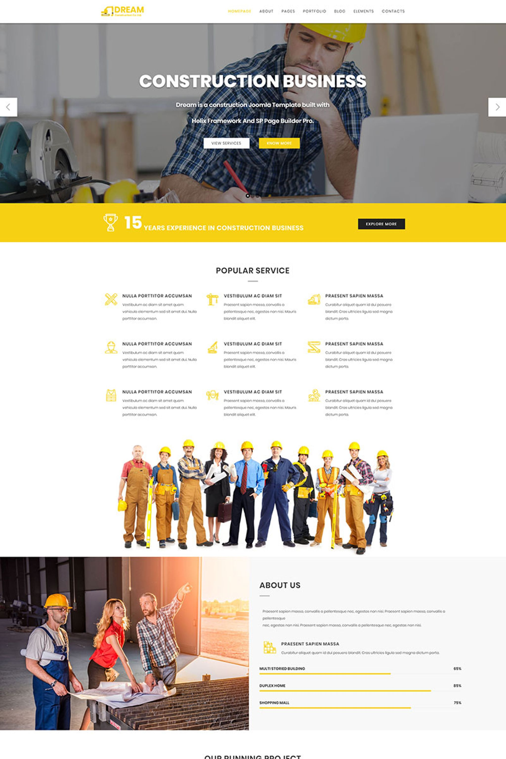 Dream - Construction Joomla Template