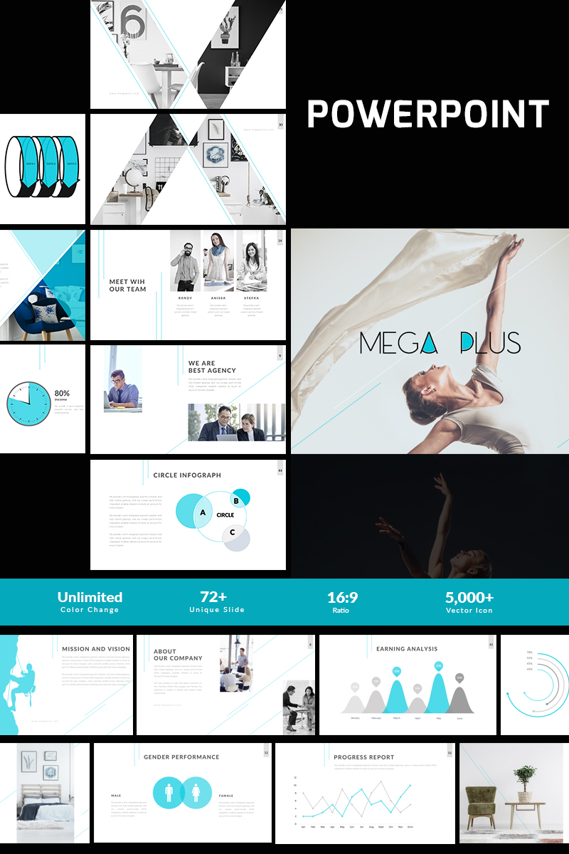 Mega Plus Presentation PowerPoint Template