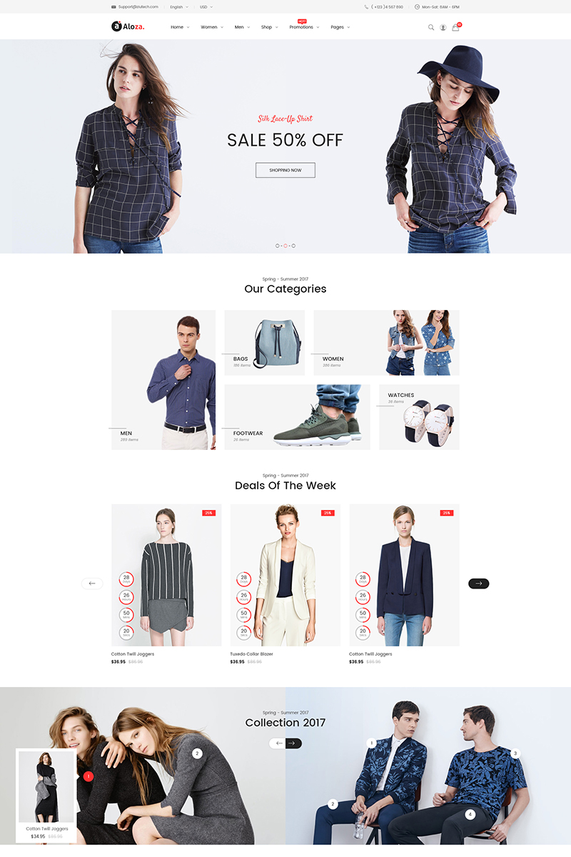 Aloza - Responsive Fashion 2 Magento Theme