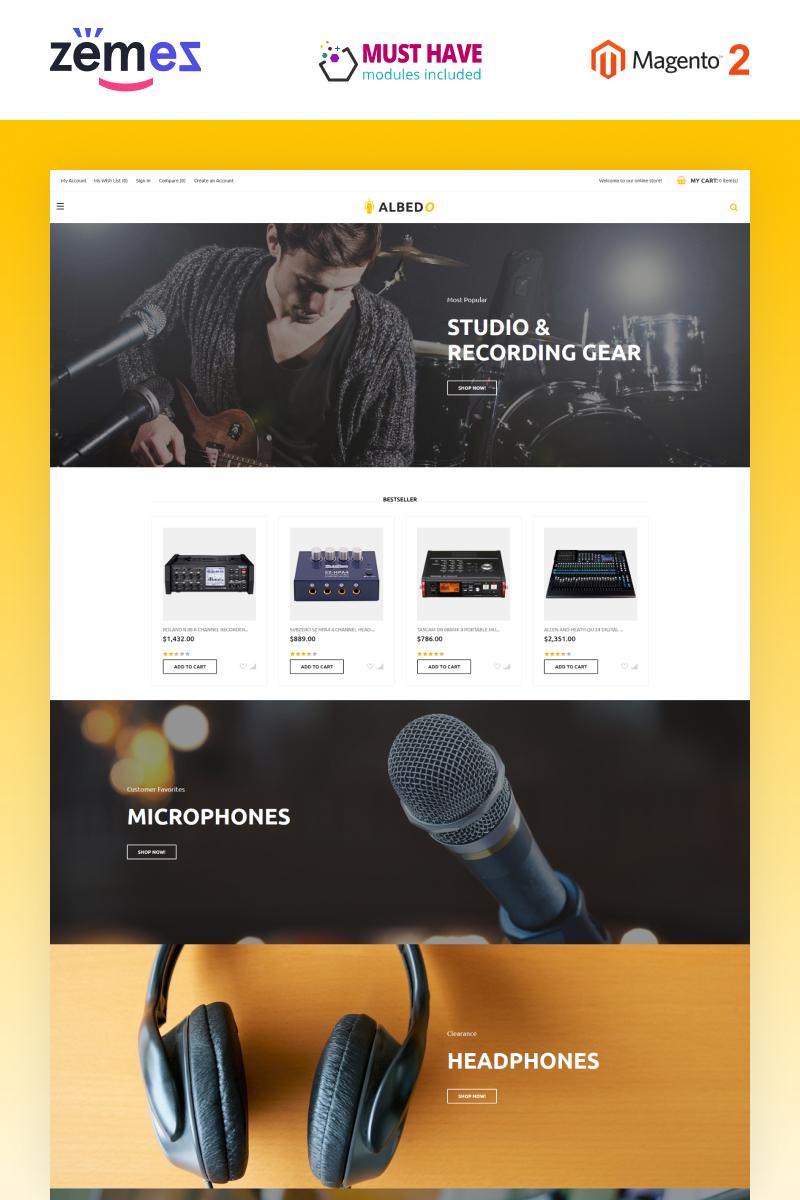 Albedo - Audio Store Magento Template Magento Theme