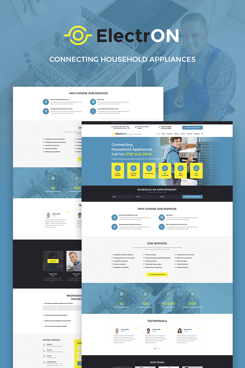 ElectrON - Maintenance Services Company WordPress Theme