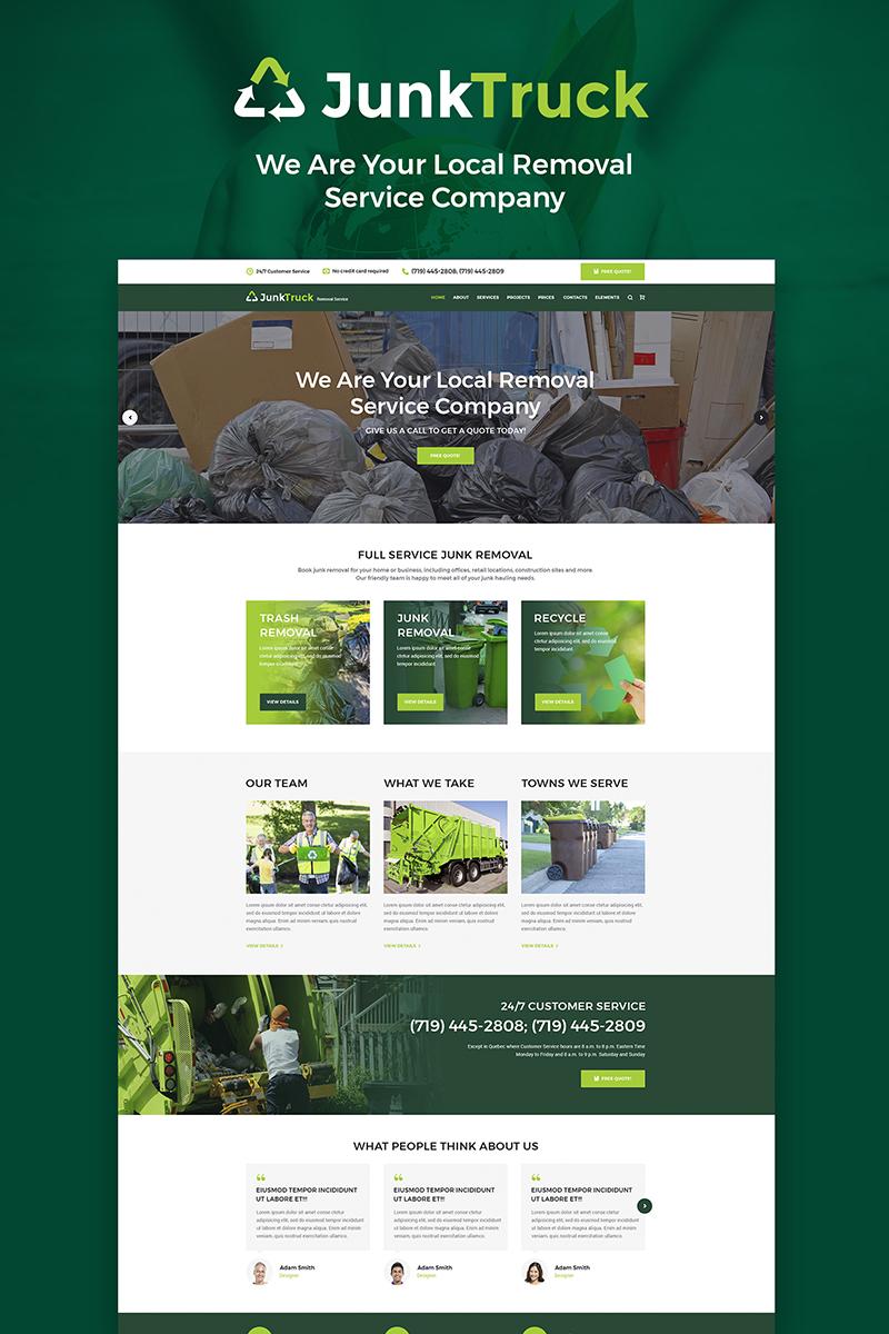 JunkTruck - Garbage Removal Service WordPress Theme