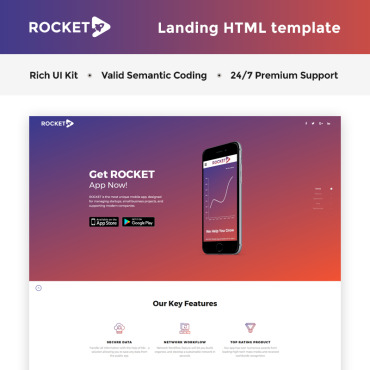 Template Software Landing Page #66268
