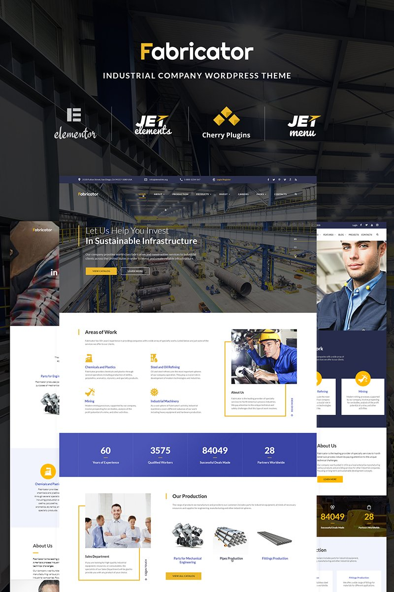 Fabricator - Industrial Company Elementor WordPress Theme