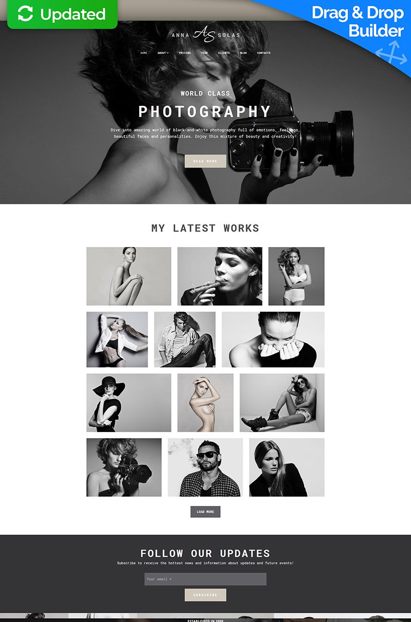 Anna Solas - Photographers Portfolio Photo Gallery Moto CMS 3 Template