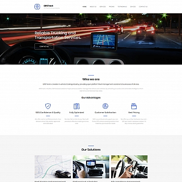 Template Transport Moto CMS 3 #66400