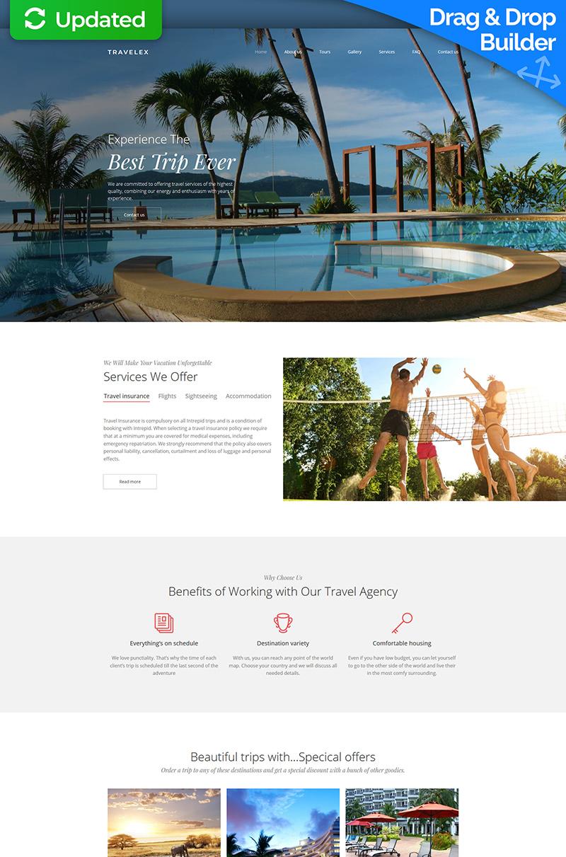 Travel Agency Premium Moto CMS 3 Template