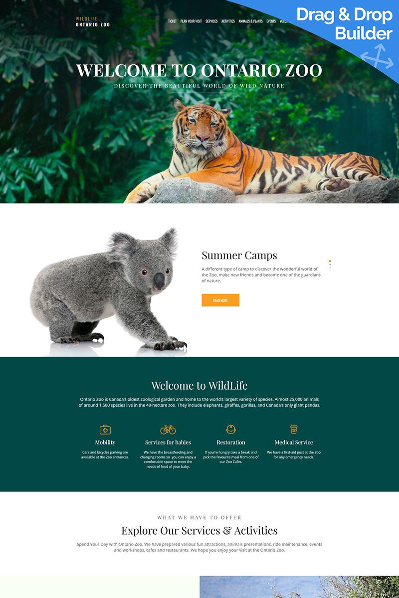 Wild Life - Zoo Premium Moto CMS 3 Template