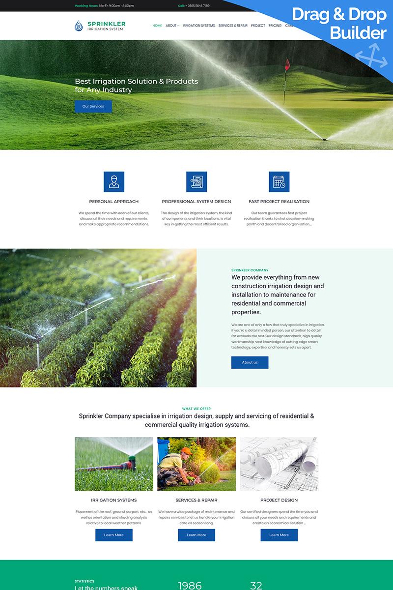 Sprinkler - Water System Premium Moto CMS 3 Template
