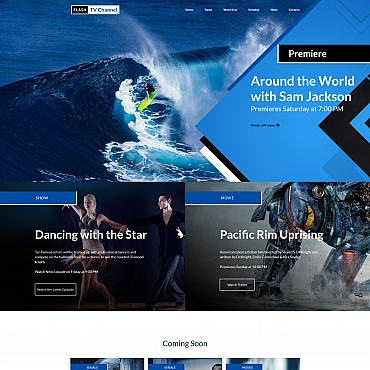 Template Mass-Media Moto CMS 3 #66415