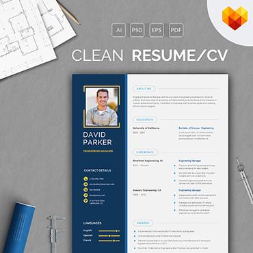 Template Afaceri Curriculum Vitae #66456